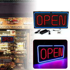 Wall Window Hanging Bright Open Sign Led Neon Pvc for retail businesses 24x12in