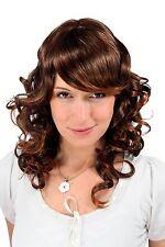 Perruque Romantique Style Mélange Marron Boucles Demi Long Postiche 40 Cm