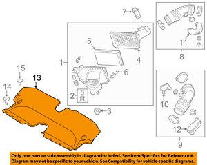 Infiniti NISSAN OEM 14-18 Q50 Air Cleaner Intake-Duct Tube Hose Assy 165544GA0A