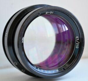 Soviet  Russian Industar-51 210 mm f/4.5 20 blades for Large Format camera lens