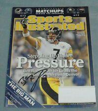 Ben Roethlisberger Signed, January 23, 2006 Sports Illustrated Magazine, Decent