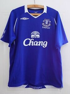 Everton FC Football Shirt 2008 2009 Home Original Umbro Soccer Jersey Mens Size