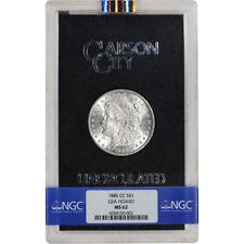 1885-CC US Morgan Silver Dollar $1 - GSA Holder - Uncirculated - NGC MS62