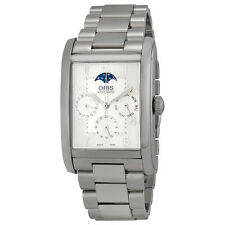 Oris Rectangular Complication Automatic Silver Dial Stainless Steel Mens Watch