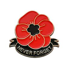 Red Poppy Badge Pin Remembrance Day 11th November Lest We Forget 2019 Army Gift