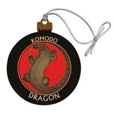 Komodo Dragon Wood Christmas Tree Holiday Ornament