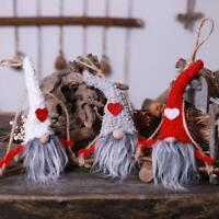 Christmas Swedish Santa Gnome Doll Ornaments Hanging Tree Festival Party Decor