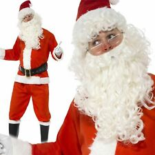 New Wig and Beard Father Christmas Stanta Claus For Cosplay Party Set kiu