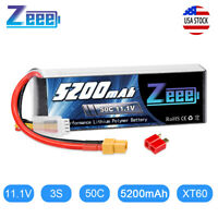 Zeee 5200mAh 50C 3S 11.1V XT60 Plug LiPo Battery for RC Car Quad Helicopter Boat