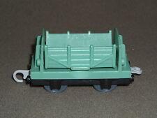 THOMAS THE TRAIN MATTEL 2009 LIGHT GREENISH-TEAL SIDE DUMP BOX CAR #R9634