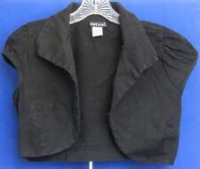 EUC Cute WET SEAL Black SHRUG Cotton & Spandex s. Collar & Cap Sleeves Sz XL