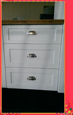 Flat Pack Kitchen Cabinets Matt White Shaker Kitchen Base 3 Drawer Cabinet 500