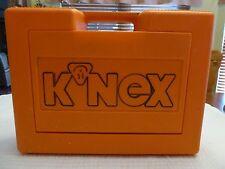 1992 K'NEX Building Set Orange Case with Lots of Pieces & Instruction Book