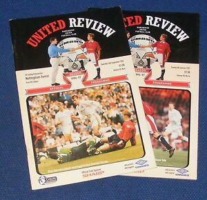 MANCHESTER UNITED HOME PROGRAMMES 1996-1997