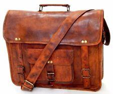 Vintage Leather Handmade Laptop Carry Style Messenger Satchel Bag Briefcase