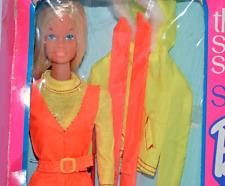SUN VALLEY Barbie The Sports Set Complete in box 1973 #7806 Vintage Orange ski
