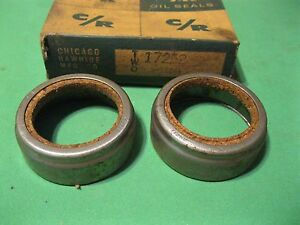 New 1955-1957 Hudson and Nash front wheel oil seal set