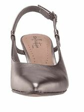 Clarks Collection Leather Slingback Pumps Linvale Loop Pewter