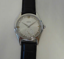 Vintage From 1950 Men's Omega Manual Wind Large Steel Case One Year Warranty 157