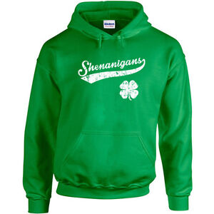 265 Shenanigans Ireland Hoodie St. Patricks Day beer party drink clover
