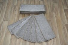 14 Open Plan Carpet Stair Treads Quality Harmony Beige Pads! 14 Large Pads!