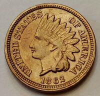 1862 Indian Head Cent Grading AU Nice Coin Priced Right Shipped FREE  i31