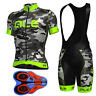 Men Cycling Jersey Bib Shorts Kit Team Short Sleeve Bike Set MTB Racing Clothing