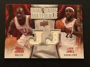 Michael Jordan Lebron James 2009-10 Upper Deck Dual Game Materials jersey DG-ML