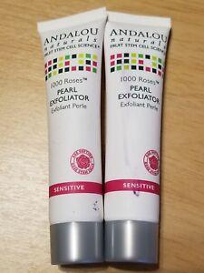 2x ANDALOU Naturals 1000 Roses PEARL EXFOLIATOR Sensitive .8oz/24ml Read Desc