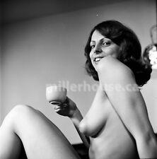 """1970's """"Irene"""" Nude Original Gauvreau B&W PIN-UP 2.25"""" Film Negative (NUDES) #3"""
