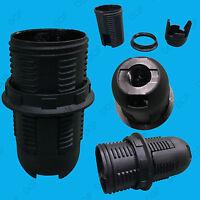 Black Small Edison Screw SES E14 Light Bulb Lamp Holder Pendant Socket Lampshade