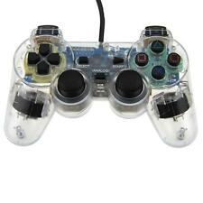 New CLEAR PS2 Shock Controller (Sony PlayStation 2) Dual Vibration Gamepad
