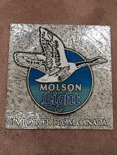 Molson Light Beer Sign
