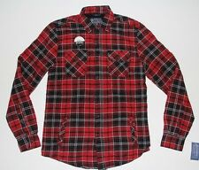 New American Rag Red Black Plaid Mens Size Small Lined Shirt Jacket