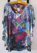 TOP BLOUSE SIZE L SIMPLY IRRESISTIBLE BRAND NEW BUTTERFLIES PATTERN NICE REDUCED