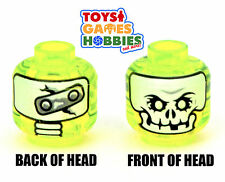 *NEW* LEGO Minifigure Minifig Head Monster Skeleton Evil Yellow Halloween #1691