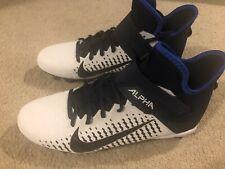 Nike Alpha Menace Pro 2 Mid Football Lacrosse Cleat Black Size US 10 Navy White