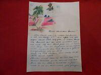 Original Brief Feldpost 2 Welt Krieg, Din A 4 Brief mit Handbild