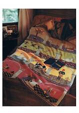12 Days of Christmas Blanket/Throw Hand or Machine Knitting Pattern 42 x 71 DK
