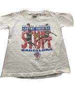 VINTAGE Nike Gray Tag Jordan Pippen Barcelona USA T-shirt Youth Small 90s