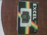 VINTAGE MINTEXCEL DELUXE-I 35mm FILM CAMERA W/ BLACK ZIPPER CASE-IN ORIGINAL