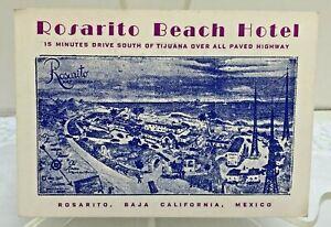 Rosarito Beach Hotel Baja California Mexico Advertising Business Card Ephemera