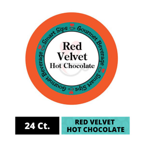 Red Velvet Hot Chocolate Pods, 24 Ct Single Serve K Cups for Keurig Brewers
