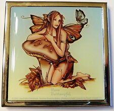 Mushroom Fairy Compact Mirror Renee Biertempfel faery faerie make-up mirror
