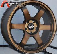 17X8 Rota Grid Wheels 5x100 +35 Bronze Rims Fits Corolla Celica Wrx Brz
