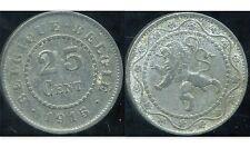 BELGIQUE 25 centimes 1915  zinc    ( belgique belgie )  ( bis )