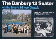 Toyota Hi-Ace Danbury 12 Seater Minibus Mid 1970s Original UK Sales Brochure