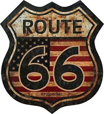 "ProSticker 825.3 (One) 3"" Route 66 American Flag Decal Sticker  Rat Rod"