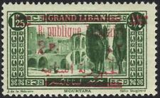 """LEBANON 1929 2p ON 1.50 ERROR E OF """"REPUBLIQUE"""" OMITTED SG 147 UNLISTED N HINGED"""