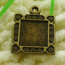 Free Ship 32 pieces Antique bronze frame charms 23x18mm #1770